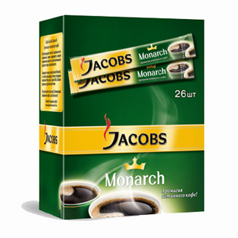 Кофе в пакетах Jacobs Monarch 26 шт